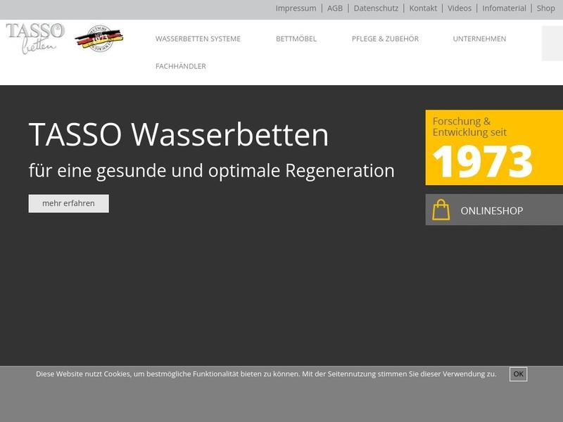 Screenshot von www.tasso.de